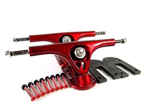 トラック スケボー スケートボード 海外モデル 直輸入 Paris 180mm V2 Longboard Trucks Red w/ Paris 1/8