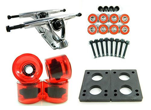 トラック スケボー スケートボード 海外モデル 直輸入 DECK 180mm Polished Trucks 70mm Wheels Combo (Gel Red)トラック スケボー スケートボード 海外モデル 直輸入 DECK