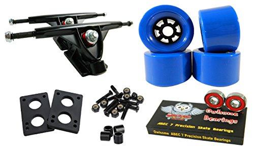 トラック スケボー スケートボード 海外モデル 直輸入 Longboard 180mm Trucks Combo w/83mm Flywheels + Owlsome ABEC 7 Bearings (Blue)トラック スケボー スケートボード 海外モデル 直輸入