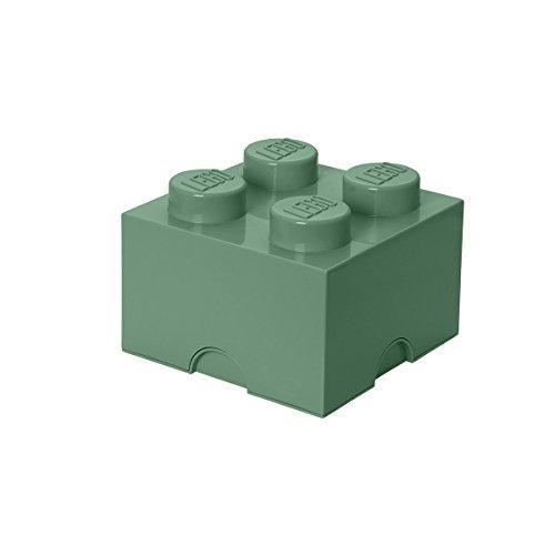 レゴ 【送料無料】LEGO 40031747 Brick 4 Knobs, Stackable Storage Box, 5.7 l, Sand Greenレゴ
