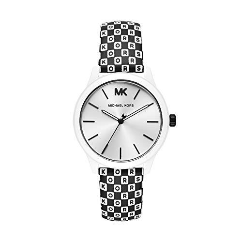 マイケルコース 腕時計 レディース マイケル・コース アメリカ直輸入 Michael Kors Women's Runway Stainless Steel Quartz Watch with Leather Strap, Multi, 18 (Model: MK2846)マイケルコース 腕時計 レディース マイケル・コース アメリカ直輸入