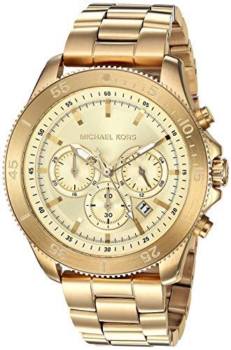 マイケルコース 腕時計 メンズ マイケル・コース アメリカ直輸入 【送料無料】Michael Kors Men's Theroux Quartz Watch with Stainless-Steel-Plated Strap, Gold, 21.6 (Model: MK8663)マイケルコース 腕時計 メンズ マイケル・コース アメリカ直輸入