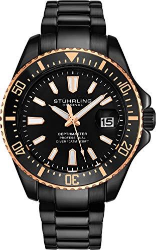 腕時計 ストゥーリングオリジナル メンズ 【送料無料】Stuhrling Original Watches for Men-Pro Diver Watch-Sports Watch for Men with Screw Down Crown for 330 Ft. of Water Resistance - Analog Dial, Quartz Moveme腕時計 ストゥーリングオリジナル メンズ