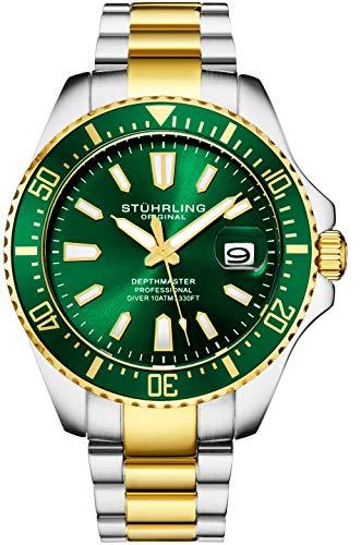 腕時計 ストゥーリングオリジナル メンズ 【送料無料】Stuhrling Original Watches for Men-Pro Diver Watch - Sports Watch for Men with Screw Down Crown for 330 Ft. of Water Resistance - Analog Dial, Quartz Move腕時計 ストゥーリングオリジナル メンズ