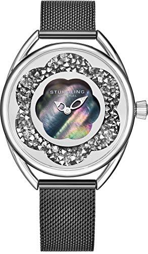 ストゥーリングオリジナル 腕時計 レディース 【送料無料】Stuhrling Original Womens Watches with Mother of Pearl Face with Silver Watch Case- Analog Dress Watch with Stainless Steel mesh Bracelet Wrist Waストゥーリングオリジナル 腕時計 レディース