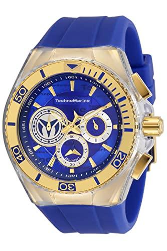 テクノマリーン 腕時計 メンズ 【送料無料】Technomarine Men's Cruise California Stainless Steel Quartz Watch with Silicone Strap, Blue, 29.1 (Model: TM-118125)テクノマリーン 腕時計 メンズ