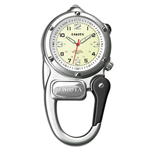 ダコタ カラビナウォッチ クリップ時計 【送料無料】Dakota Silver Mini Clip Microlight Watchダコタ カラビナウォッチ クリップ時計