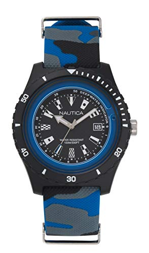 ノーティカ 腕時計 メンズ 【送料無料】Nautica Men's Surfside Japanese-Quartz Silicone Strap, Multi, 21 Casual Watch (Model: NAPSRF009)ノーティカ 腕時計 メンズ