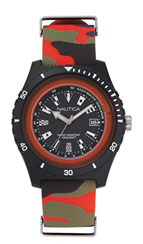 ノーティカ 腕時計 メンズ 【送料無料】Nautica Men's Surfside Japanese-Quartz Silicone Strap, Multi, 22 Casual Watch (Model: NAPSRF008)ノーティカ 腕時計 メンズ