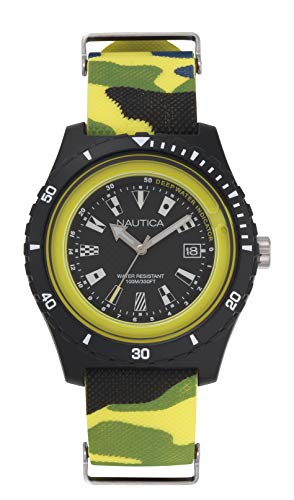 ノーティカ 腕時計 メンズ 【送料無料】Nautica Men's Surfside Japanese-Quartz Silicone Strap, Multi, 21 Casual Watch (Model: NAPSRF007)ノーティカ 腕時計 メンズ