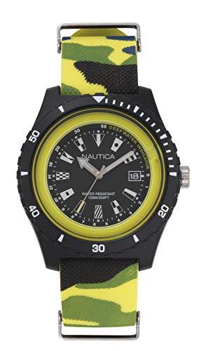 ノーティカ 腕時計 メンズ 【送料無料】Nautica Men's Surfside Japanese-Quartz Silicone Strap, Multi, 21 Casual Watch (Model: NAPSRF007)ノーティカ 腕時計 メンズ