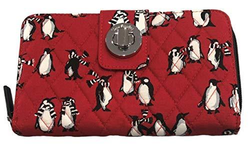 ヴェラブラッドリー ベラブラッドリー アメリカ 日本未発売 財布 【送料無料】Vera Bradley Turnlock Wallet (Playful Penguins Red)ヴェラブラッドリー ベラブラッドリー アメリカ 日本未発売 財布