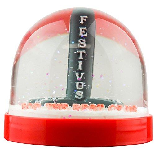 スノーグローブ 雪 置物 インテリア 海外モデル 【送料無料】Funny Christmas Snow Globe Festivus for the Rest of usスノーグローブ 雪 置物 インテリア 海外モデル
