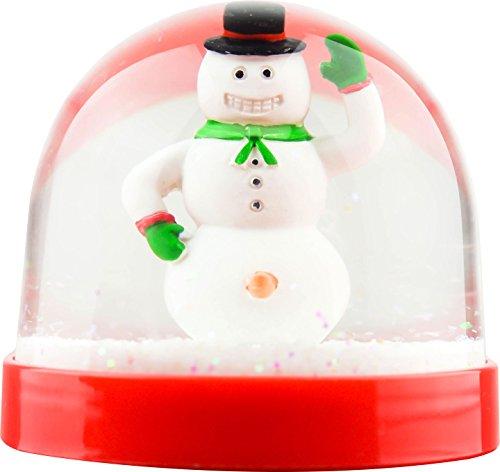 スノーグローブ 雪 置物 インテリア 海外モデル 【送料無料】Funny Christmas Snow Globe Happy to see you Snowmanスノーグローブ 雪 置物 インテリア 海外モデル
