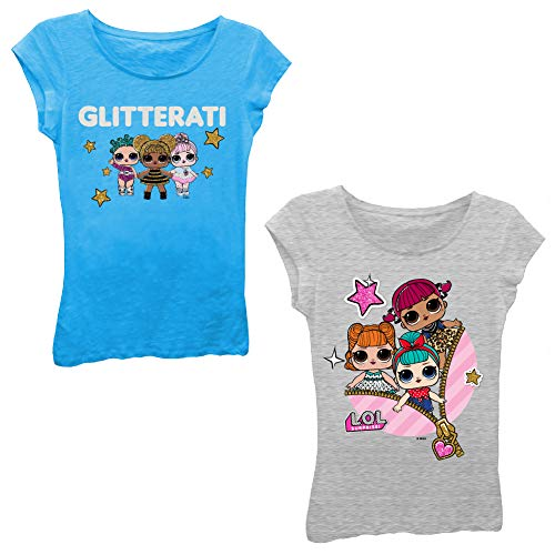 エルオーエルサプライズ 人形 ドール 【送料無料】L.O.L Surprise! Girls T-Shirt Set - 2 Pack of LOL Surprise Tees - Lil Outrageous Littles T-Shirts (Turquoise/HeatherGrey, M-5/6)エルオーエルサプライズ 人形 ドール