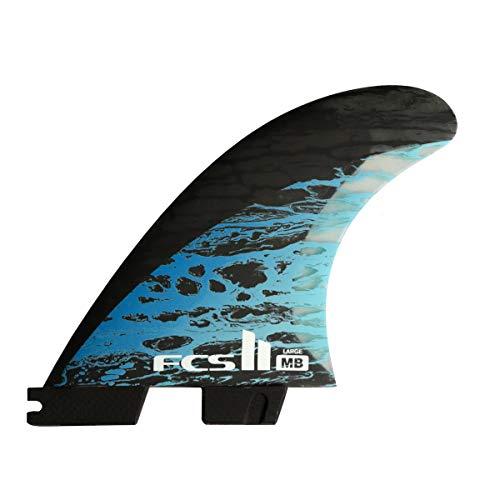 サーフィン フィン マリンスポーツ 【送料無料】FCS II Matt Biolos PC Carbon Tri-Quad Fin Set Blue Largeサーフィン フィン マリンスポーツ