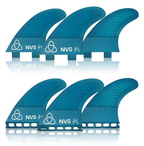 サーフィン フィン マリンスポーツ 【送料無料】Naked Viking Surf Medium JL Thruster Surfboard Fins (Set of 3) Blue, FCS Baseサーフィン フィン マリンスポーツ