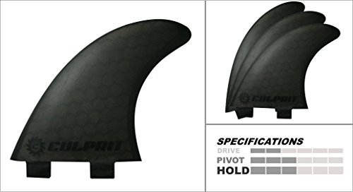 無料ラッピングでプレゼントや贈り物にも 逆輸入並行輸入送料込 年末年始大決算 サーフィン フィン マリンスポーツ 送料無料 Culprit Surf Honeycomb RTM Thruster Style -C3サーフィン FCS M3 Surfboard - Black Fins 出荷