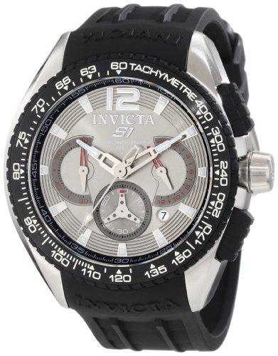 インヴィクタ インビクタ 腕時計 メンズ 【送料無料】Invicta Men's 1850 S1 Chronograph Grey Dial Black Polyurethane Watchインヴィクタ インビクタ 腕時計 メンズ