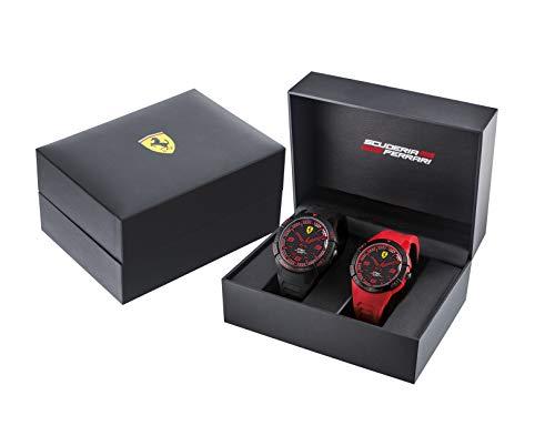 フェラーリ 腕時計 メンズ Ferrari Quartz Watch with Silicone Strap, Black, 20 (Model: 0870038)フェラーリ 腕時計 メンズ