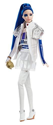 バービー バービー人形 日本未発売 【送料無料】Barbie Collector: Star Wars R2-D2 X Barbie Doll with Blue Hair, 11.5-Inch Wearing Dome Skirt and Bomber Jacket, with Doll Stand and Certificate of Authenticityバービー バービー人形 日本未発売