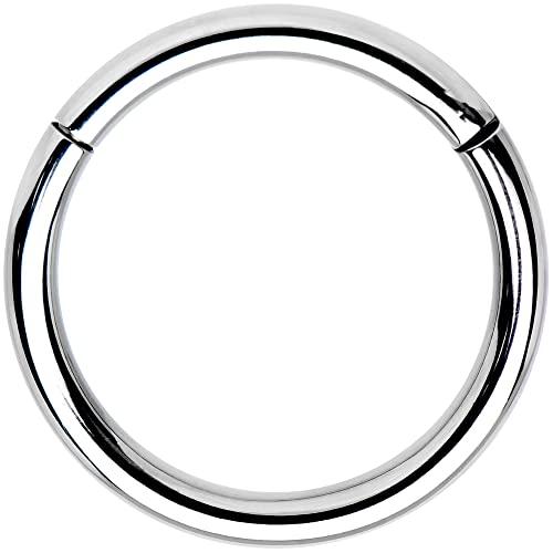 ボディキャンディー ボディピアス アメリカ 日本未発売 ウォレット Body Candy Solid G23 Implant Grade Titanium Hinged Segment Ring 14 Gauge 1/2