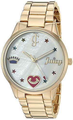 ジューシークチュール レディース 【送料無料】Juicy Couture Black Label Women's Swarovski Crystal Accented Gold-Tone Bracelet Watchジューシークチュール レディース