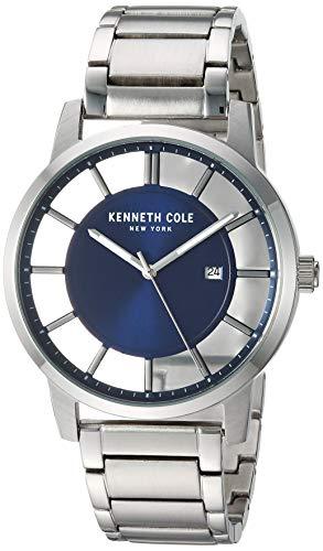 ケネスコール・ニューヨーク Kenneth Cole New York 腕時計 メンズ 【送料無料】Kenneth Cole New York Men's TRANSPARENCY Japanese-Quartz Stainless-Steel Strap, Silver, 20.8 Casual Watch ケネスコール・ニューヨーク Kenneth Cole New York 腕時計 メンズ