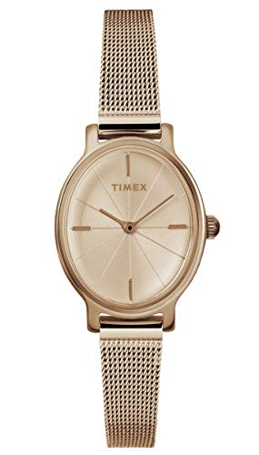 タイメックス 腕時計 レディース 【送料無料】Timex Women's Year-Round Quartz Watch with Stainless Steel Strap, Rose Gold, 8 (Model: TW2R94300)タイメックス 腕時計 レディース