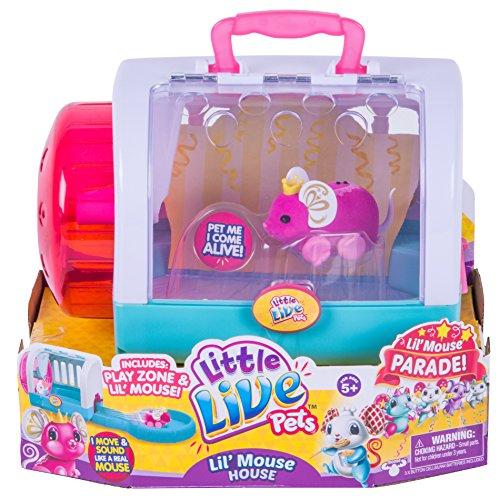リトルライブペッツ ぬいぐるみ リアル 動く 鳴く 【送料無料】Little Live Pets Lil' Mouse House - Whiskersリトルライブペッツ ぬいぐるみ リアル 動く 鳴く