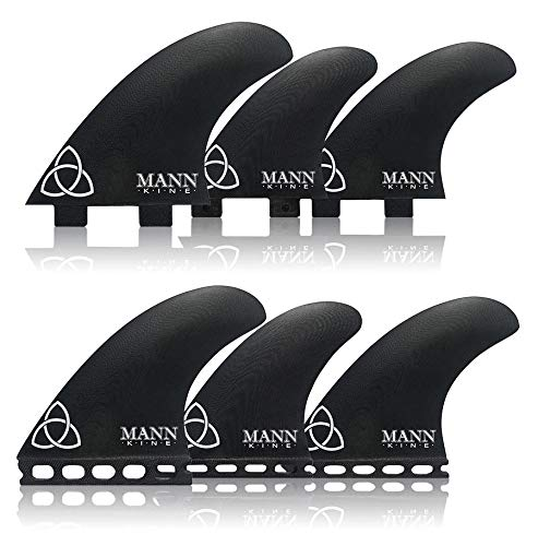 サーフィン フィン マリンスポーツ 【送料無料】Naked Viking Surf Mannkine Tri-Quad Large Surfboard Fins, Apex Series (Set of 5), FCSサーフィン フィン マリンスポーツ