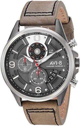 アヴィエイト アビエイト 腕時計 メンズ イギリス 【送料無料】AVI-8 Men's Hawker Harrier II Stainless Steel Japanese-Quartz Aviator Watch with Leather Strap, Grey, 21.7 (Model: AV-4051-03)アヴィエイト アビエイト 腕時計 メンズ イギリス