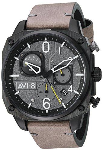 アヴィエイト アビエイト 腕時計 メンズ イギリス 【送料無料】AVI-8 Men's AV-4052 Hawker Hunter Analog Display Japanese Quartz Watch with Leather Bandアヴィエイト アビエイト 腕時計 メンズ イギリス