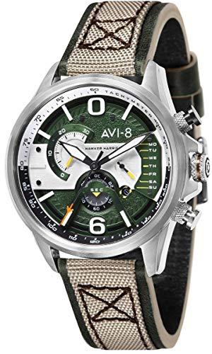 アヴィエイト アビエイト 腕時計 メンズ イギリス AVI-8 Mens Hawker Harrier ll Watch - Green/Beigeアヴィエイト アビエイト 腕時計 メンズ イギリス