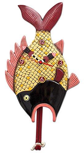 壁掛け時計 振り子時計 インテリア 海外モデル アメリカ 【送料無料】Allen Designs Little Finn Fish Pendulum Clock壁掛け時計 振り子時計 インテリア 海外モデル アメリカ