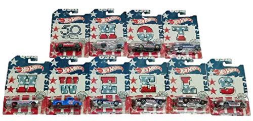 ホットウィール マテル ミニカー ホットウイール 【送料無料】Hot Wheels 50th Anniversary Stars and Stripes Complete Set of 10ホットウィール マテル ミニカー ホットウイール