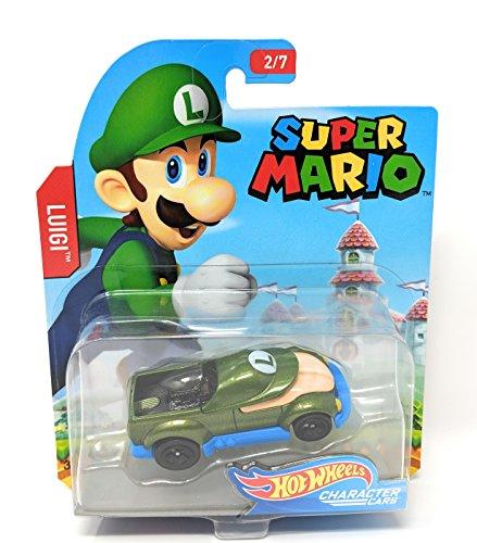 ホットウィール マテル ミニカー ホットウイール Hot Wheels Super Mario Character Cars Luigi Vehicle 2/7ホットウィール マテル ミニカー ホットウイール