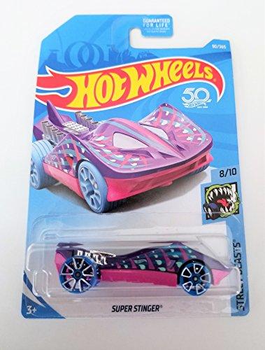 ホットウィール マテル ミニカー ホットウイール Hot Wheels 2018 50th Anniversary Super Stinger (Stingray Car) 90/365, Purple and Pinkホットウィール マテル ミニカー ホットウイール