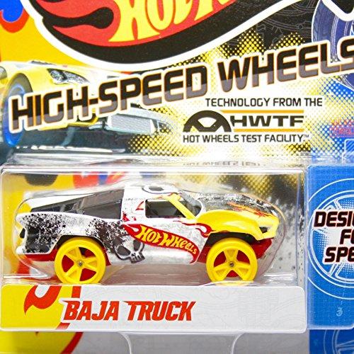 ホットウィール マテル ミニカー ホットウイール Team Hot Wheels High-Speed Wheels Baja Truck White/Yellowホットウィール マテル ミニカー ホットウイール