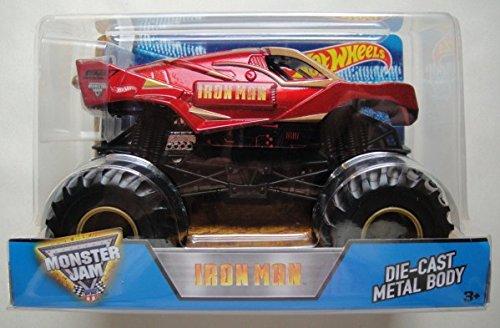 ホットウィール マテル ミニカー ホットウイール 【送料無料】Hot Wheels 2016 Monster JAM Iron Man DIE CAST Metal Body 1:24 Scaleホットウィール マテル ミニカー ホットウイール
