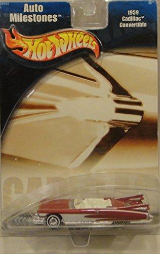ホットウィール マテル ミニカー ホットウイール 【送料無料】HOT WHEELS AUTO MILESTONES RED 1959 CADILLAC CONVERTIBLE DIE-CASTホットウィール マテル ミニカー ホットウイール