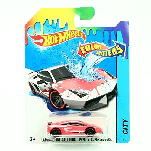 ホットウィール マテル ミニカー ホットウイール 【送料無料】Hot Wheels Color Shifters Lamborghini Gallardo LP 570-4 (Red to White) Vehicleホットウィール マテル ミニカー ホットウイール