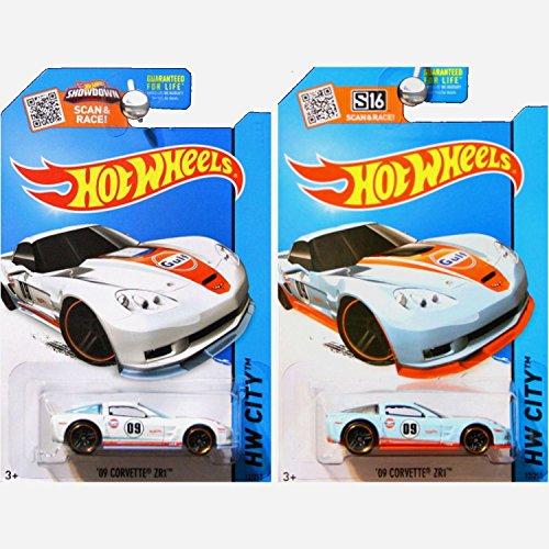 ホットウィール マテル ミニカー ホットウイール 【送料無料】Hot Wheels 2015 Performance Chevrolet Chevy Corvette ZR1 Gulf Livery in White and Blue Set of 2ホットウィール マテル ミニカー ホットウイール