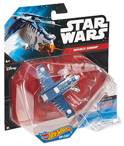 ホットウィール マテル ミニカー ホットウイール 【送料無料】Hot Wheels Star Wars Starship Republic Gunship Tiger Sharkホットウィール マテル ミニカー ホットウイール