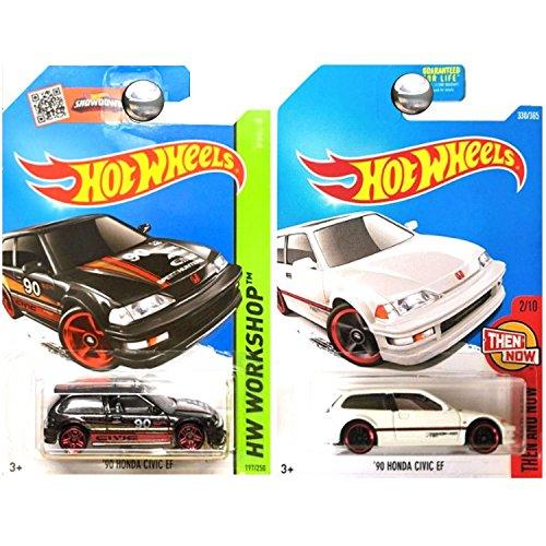ホットウィール マテル ミニカー ホットウイール 【送料無料】Hot Wheels Hunda Civic EF Hatchback Black and White SET OF 2ホットウィール マテル ミニカー ホットウイール