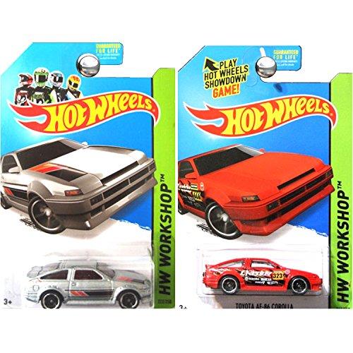 ホットウィール マテル ミニカー ホットウイール 【送料無料】Hot Wheels Workshop Toyota Corolla AE-86 AE86 in Silver and Red SET OF 2ホットウィール マテル ミニカー ホットウイール