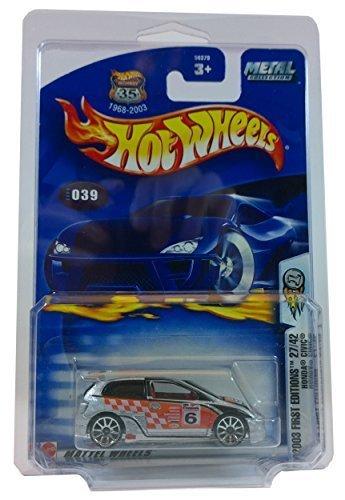 ホットウィール マテル ミニカー ホットウイール 【送料無料】Hotwheels 2003 First Edition Honda Civic 27/42 with Bonus Protective Collectors Caseホットウィール マテル ミニカー ホットウイール