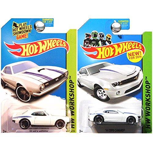 ホットウィール マテル ミニカー ホットウイール 【送料無料】Hot Wheels 2014 Then and Now 2014 14 Copo Camaro and 1968 68 Copo Camaro in White SET OF 2ホットウィール マテル ミニカー ホットウイール