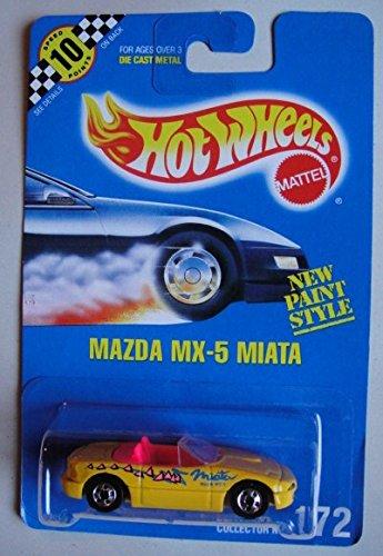 ホットウィール マテル ミニカー ホットウイール HOT WHEELS YELLOW MAZDA MX-5 MIATA #172 ALL BLUE CARDホットウィール マテル ミニカー ホットウイール