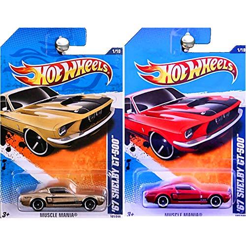 ホットウィール マテル ミニカー ホットウイール 【送料無料】Hot Wheels 1967 Ford Shelby Mustang GT-500 GT500 Gold Red Set of 2ホットウィール マテル ミニカー ホットウイール